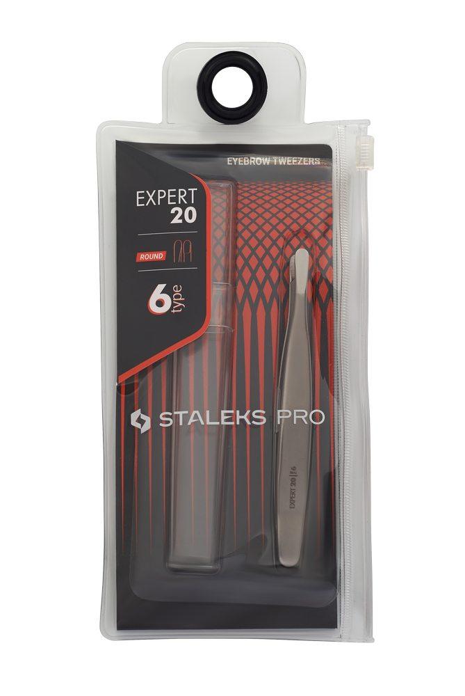 Пинцет для бровей Expert TE-20/6 (закругленные кромки) STALEKS