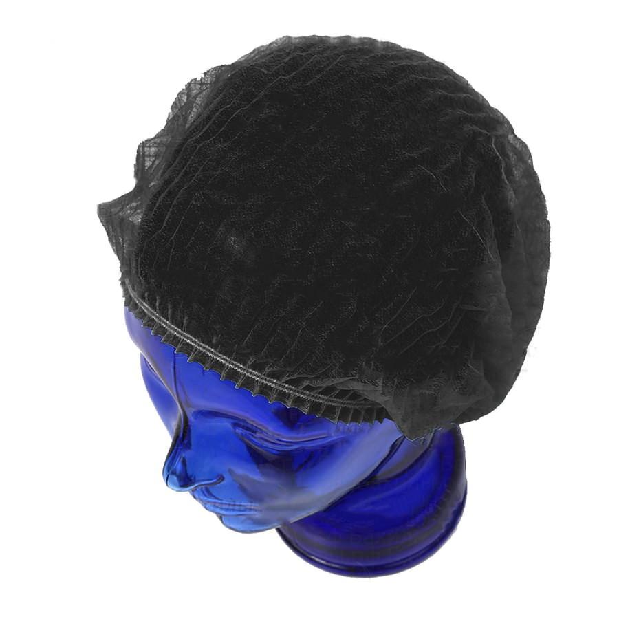 Одноразовая шапочка Шарлотта (черная, 100 шт) «СпецМедЗащита»