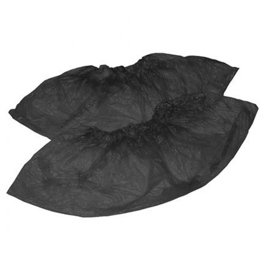 Бахилы одноразовые черные (40 мкм, 50 пар)